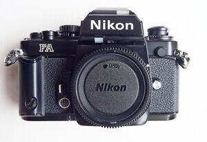 Nikon FA 35mm film camera black body in very good condition