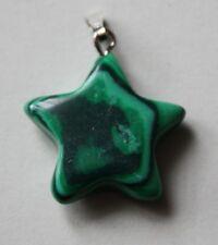 Malachite Star Shaped Pendant. 22mm by 22mm. (C).