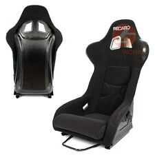 2x JDM Rear Black Carbon Bull Shape Lightweight Racing Sport Bucket Seat (Pair)