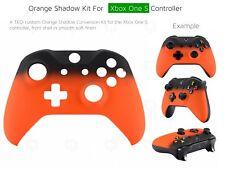Xbox One S Orange Velvet/Soft microsoft Controller Front Volcano Shadow Shell