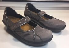 Naot  Gray Suede Leather Mary Jane Comfort Shoes Women's Size 7-7.5/38