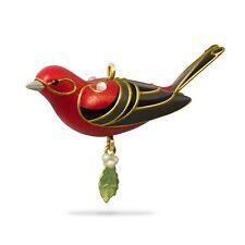Hallmark 2018 Red Tanager Bird Miniature Ornament