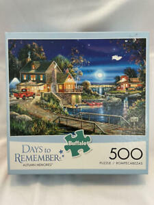 DAYS TO REMEMBER Autumn Memories Buffalo Games Puzzle 500 pc Complete