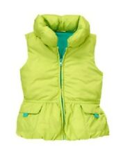 NWT Gymboree Color Happy S 5 6 Lime Green Fleece Lined Puffer Vest Girls
