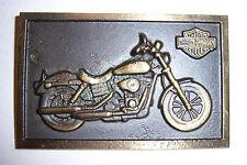 "Harley Davidson DYNA brass plaque 4 1/8"" x 2 5/8"""