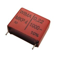 2 WIMA Polypropylen Folienkondensator MKP4 1000V 0,22uF 22,5mm 089705