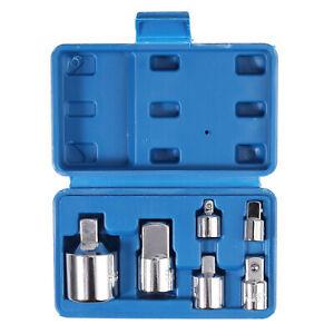 "Socket Adaptador Socket Wrench 6PCS 1/2"" 3/8"" 1/4"" hembra A 3/8""1/2"" 1/4"" macho"