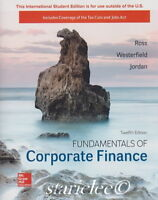 NEW 3 Days to US Fundamentals of Corporate Finance 12E Ross Jordan 12th Edition
