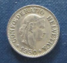 """Münze 10 Rappen Schweizer Franken 1950 """"B"""" aus Umlauf gültiges Zahlungsmittel"""