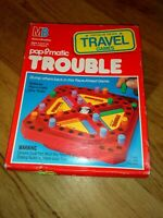 VINTAGE POP O MATIC TROUBLE GAME TRAVEL EDITION RARE COMPLETE MB GAMES 1989