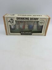 Paladone Drinking Derby Horse Racing Party Game 4 Shot Glasses Deck Of Cards Bxd