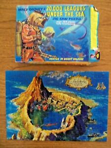 WALT DISNEY'S 20,000 LEAGUES UNDER THE SEA JIG SAW PUZZLE FROM THE 1950'S