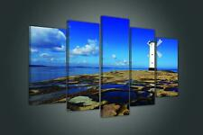 Canvas Picture Print  20067_PS17 Windmill on Rocky Coast Wandbild  Leinwandbild