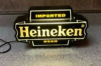 Vintage Heineken Imported Beer Light Bar Sign Wall Mount Made in USA Man Cave