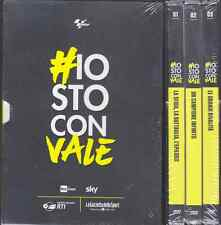 3 Dvd Box Cofanetto «IO STO CON VALE ~ VALENTINO ROSSI» completo nuovo sigillato