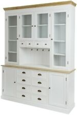 Sideboard Buffet Cabinet Toscana White Wood Country Style 220x160x43cm My Flair