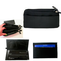 Travel Cosmetic Bag Purse Organizer Clutch Wallet Makeup Pouch Toiletry Case Blk