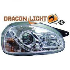 Scheinwerfer Set für Opel Corsa B 93-00 Klarglas/Chrom LED TFL Optik