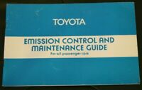 Retro Toyota emission control and maintenance guide for all passenger cars