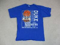 VINTAGE Duke Blue Devils Shirt Adult Extra Large Blue White Basketball Mens 90s