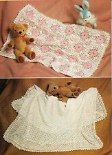 Knit and Crochet Baby Shawl Patterns Vintage DK & 2 ply Repro