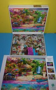 Tropical Island Holiday By Buffalo Games 1500 Piece Puzzle & Poster