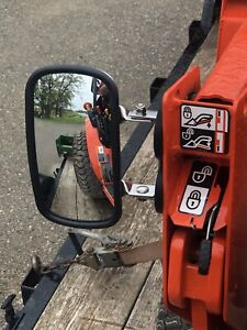 PREMIUM MAGNET MIRROR Tractor/Skidsteer RUBBER COATED STAINLESS STEEL 1025r bx