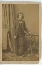 Leopold AUER (Violinist): Signed CDV Photograph at the age of 16