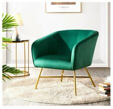 Green Velvet Comfy Lounge Upholstered Chair Home Office Chair Accent Chair