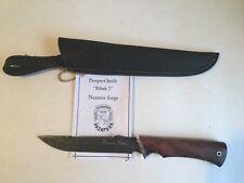"Damascus Steel Custom Handmade Knife ""Ribak 2"" by Nazarov Forge"