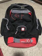 Burton Backcountry Snowboard Ski Touring School Skate Backpack - Black + Red