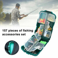 157PCS Multifunctional Bait Tools Kit 157pcs Fishing Accessories Box Hook Case