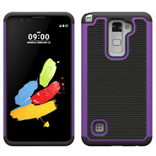 For LG Stylo 2 Phone Case Hard & Soft Silicone Hybrid Armor Shockproo Back Cover