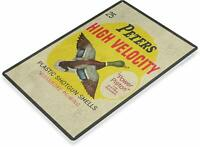 Peters High Velocity Retro Tin Metal Sign