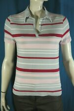 BURTON OF LONDON Taille 4 - 44 Superbe polo manches courtes femme gris rose