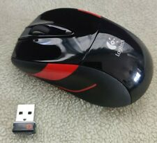 Souris Sans fil Logitech M525 - Récepteur USB Unifying - Wireless - Noir Rouge