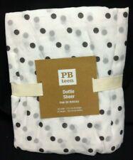 Pottery Barn Pb Teen Kids dottie dot sheers drapes curtains panels 44x63 black