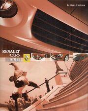 RENAULT Clio Extreme Edition limitée 2004 marché britannique la brochure commerciale 1.2 dci 65