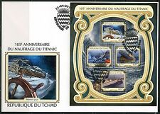 CHAD  2017  105th ANNIVERSARY  OF THE TITANIC SINKING  SHEET  FIRST DAY COVER
