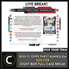 2020-21 TOPPS FINEST Bundesliga 8 Caja (completo Funda) romper #S196 - Elige Tu Equipo