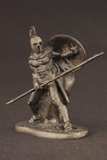 tin toy soldiers unpainted  54mm Greek Hoplite with spear