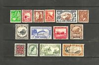 Set of New Zealand 1935 Pictorials, 14 Stamps Set, FU