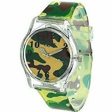 Core Designer Boys Analog Green Army Camouflage Plastic Strap watch All Plastic