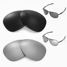 New Walleva Black + Titanium Polarized Lenses For Oakley Plantiff Sunglasses