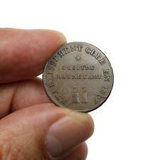 Jeton Publicitaire Cloître Notre Dame Eau clarifiée et dépurée, une voie 1809