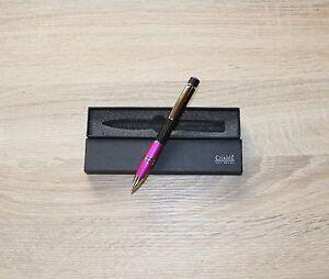 Metall Kugelschreiber  CARBON mit  IHRER persönlichen Diamant Gravur  OVP