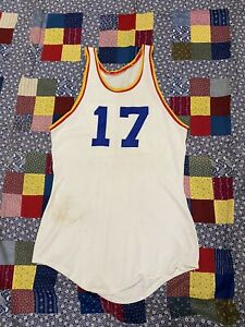 Vintage 1940s Lowe And Campbell Basketball Jersey #17