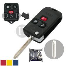 Flip Key Shell + Key Blank refit for FORD MAZDA MERCURY Remote Key Fob 3 Button