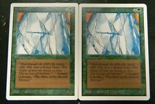 Vintage MTG Unlimited (2) Wall Of Ice Green Uncommon Cards LP-Excellent Cond