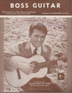 "DUANE EDDY  Rare 1963 Australian Only OOP Original Sheet Music ""Boss Guitar"""